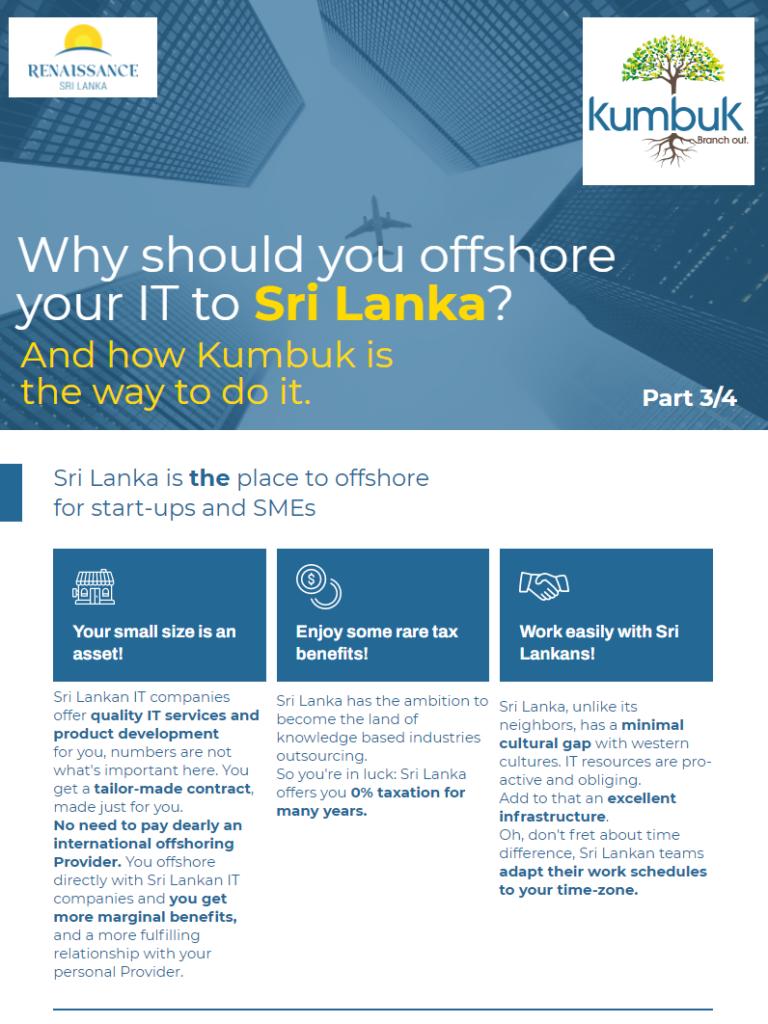 Renaissance Sri Lanka Kumbuk - why start-ups and SMEs should offshore to Sri Lanka Part 3